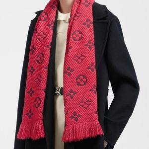 100% Auth Louis Vuitton Logomania Shine Scarf NEW